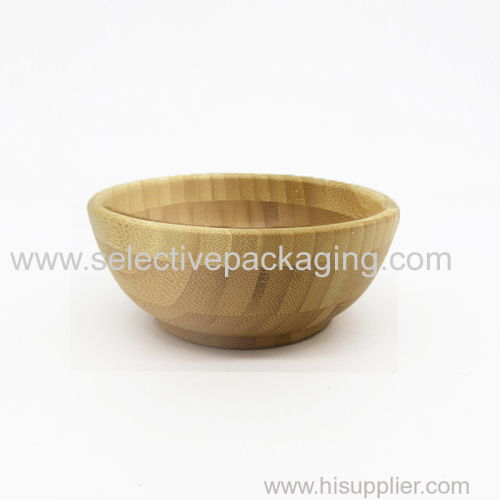 Big bamboo bowl and spoon