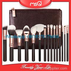Wholesale MSQ 15PCS Private Label Custom Goat Hair Makeup Brush Set Best for Makeup