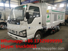 Japan brand ISUZU 4*2 LHD small road sweeper truck for sale