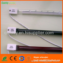 Quartz infrared emitter with white rflector