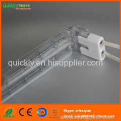 Shortwave quartz halogen heating lamp