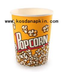 carta popcorn coppa secchio di popcorn e getta 85 once