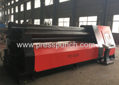 4 rollers plate roll bending machine