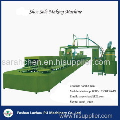 Pu shoe making machine with conveyor production line