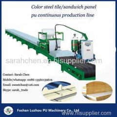pu composite panel pu insulation sheet activity sheet steel tile panel foam machine