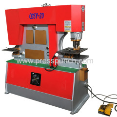 Q35Y Series Hydraulic Iron Worker steel machine italy hydraulic pump manufacturers angle iron punching machine