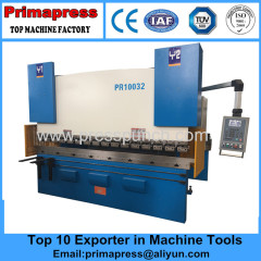 China Da52 hydraulic cnc carbon steel bending machine and press brake machine for sale