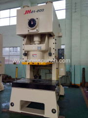 Cheap price JH21 High speed eccentric cnc punching machine