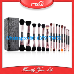 MSQ New Arrival Single Makeup Brush Rose Gold Double Ended Make up Brush Synthetic Hair 14 Pieces