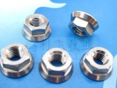 DIN6923 titanium Hexagon nut with flange made in China manufacturer in stock hexagon flange nuts ISO4161 GB6177-86