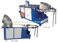 China best high quality sheet metal duct round elbow making machine