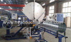 Spiral tube pipe forming machine