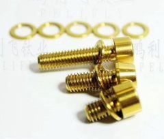 Golden color titanium GR5 SOCKET HEAD CAP SCREWS AND TAPERED SOCKET HEAD CAP SCREWS