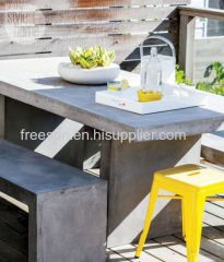 Cement Furniture Coffee Table Outdoor Garden Style