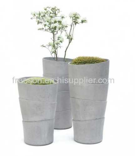 Fiberglass Reinforced Concrete Planters GRC Flower Pots Outdoor Garden Waterproof
