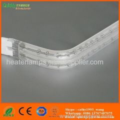 IR heating lamps with ceramic white coating