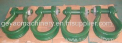 High strength bow shackle with screw