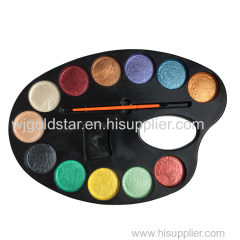 12 Color Pearl watercolor paint Palette