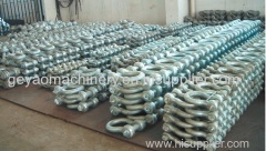 galvanized high-strength carbon-steel bow shackle
