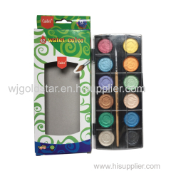 Color Box Packing 12 colors Pearl Watercolor set