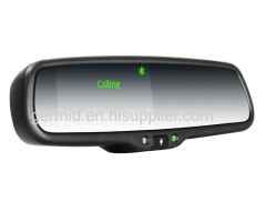 GERMID Bluetooth Handsfree Car Kit Rear View Mirror Monitor