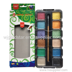 Square Pearl watercolor paint set