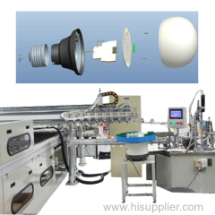 Automatic LED bulb production machine