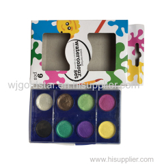 Diameter 2.3cm Pearl watercolor Paint Palette