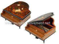 30 Note Mechanism Piano Shape Wooden Music Box Gifts