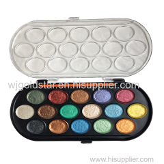 16 Color Pearl watercolor Paint Palette