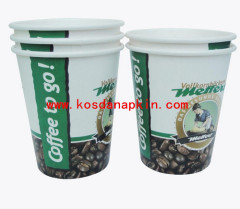 Wholesale custom logo disposable paper cups with lids