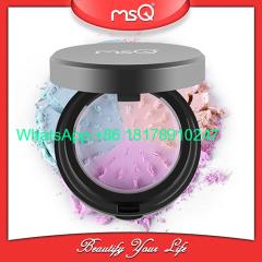 MSQ Brand 3color Mineral Powder Natural Concealer Blender Grind Powder Makeup Cosmetics Palette Set