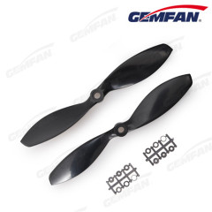 7x3.8 inch ABS black green orange propellers 2 blades for Multirotor race aircraft