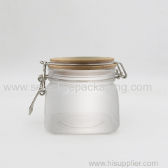 500ml square kilner jar with bamboo top