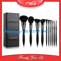 MSQ 10pcs black diamond makeup brushes set with high quality material