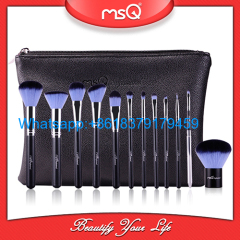 MSQ 12pcs cosmetics tool private label top quality makeup brushes