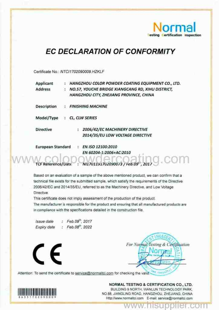 CE FOR  VIBRATORY POLISHING MACHINE