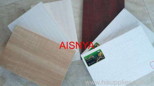 Particle board with colorful film in glossy/ matt/ mesh finish with kinds of design