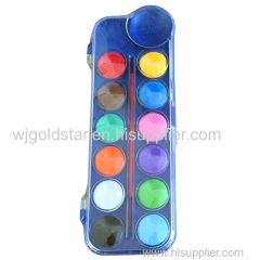 watercolor paint cakes set artist professional quality in plastic box for kid