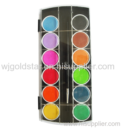 Diameter 3.0cm 12 colors Watercolor Paint Cake