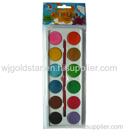 Dry Watercolor cake Set 12 colors