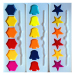 6 color Semi Dry Watercolor Set
