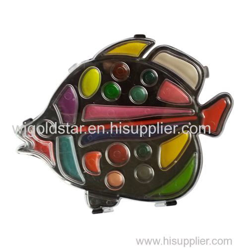 Fish Shape Semi Dry Watercolor Set