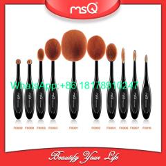MSQ New Arrival Tooth Brush Shape Oval Makeup Brush Set MULTIPURPOSE Professional Foundation Powder Brush Kits