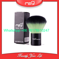 MSQ New Arrival Single Kabuki Makeup Brush Kit Double-Color Soft Synthetic Hair Powder Make Up Brush Black Aluminium Han