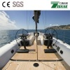 waterproof pvc synthetic teak wood decking for boat yacht 190X5mm/50X5m