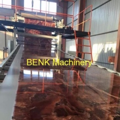 environmental protect pvc marble sheet extrusion machine size 1220mm X 2440mm