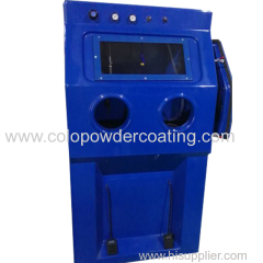 Manual wet sand balst machine