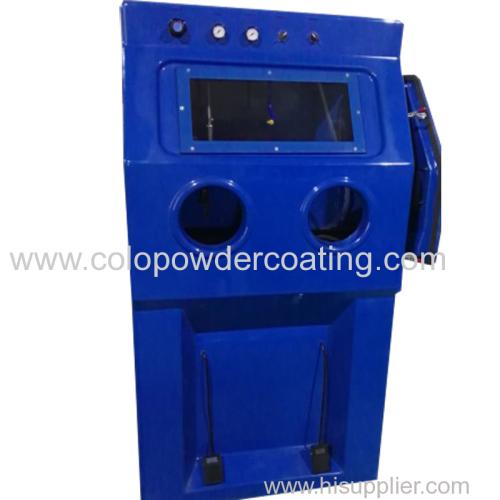 Manual wet sand balst machine