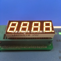 "Super bright yellow common cathode 0.56"" 4 digit 7 segment led display for instrument"